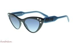 MIU MIU WOMEN SUNGLASSES MU05TS 1AB3A0 Black/Grey Blue Mirror Silver Len... - $232.80