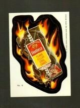 """WACKY PACKAGES 1985 Series """"HOTTEST COAL CAKES"""" #9 Sticker Card - $1.50"""