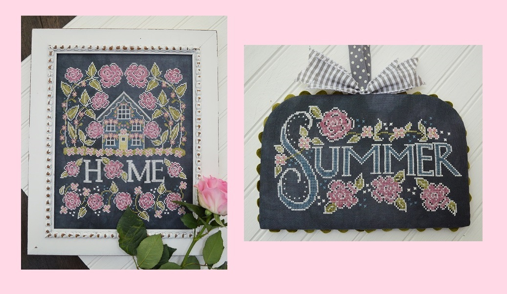 Primary image for Rose Cottage/Summer #2 Chalk for the Home Series cross stitch Hands On Design