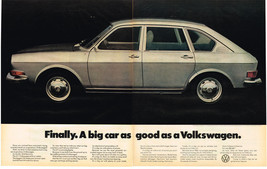 Vintage 1971 2-Page Magazine Ad Volkswagen 411 The Biggest VW Sedan Ever - $5.93