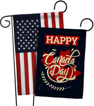 Happy Anniversary Canada - Impressions Decorative USA Applique Garden Fl... - $30.97