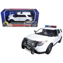 2015 Ford Police Interceptor Utility White with Light Bar and Sound 1/24... - $43.07