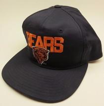 Vintage New Era Chicago Bears Dark Blue Snapback Embroidered Logo NFL SNAPBACK - $35.60