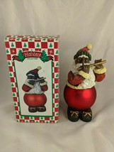 "Santa Claus Decoration African American Flute 8"" Figure - $19.30"