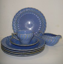 Royal China Swirl Blue Dishes Very Hard to Find - $42.75
