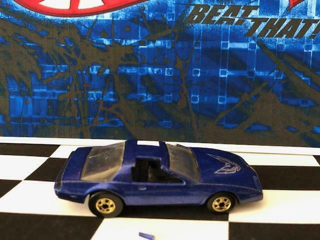 Hot Wheels 1988 3972 '80s Firebird Blue Black Int bw/gold Silver Tampo See Desc