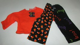 """18"""" doll clothes hand made pajama outfit Halloween trick or treat boo ca... - $6.92"""