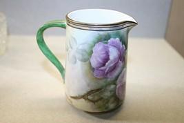 Royale Mint Noritake~W. Spencer~Signed~Bone China Creamer Pitcher~Floral... - $15.83
