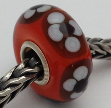 Authentic Trollbeads Ooak Universal Unique 140 Murano Glass Bead Charm Fits All - $33.24