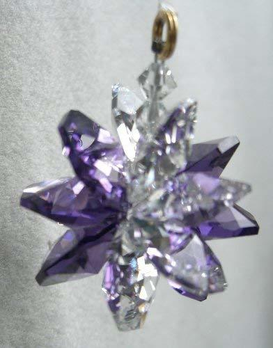 J'Leen Small Clear Amethyst Crystal Suncluster Ornament
