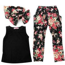 Complete sets of girls sleeveless outfit+headband - $13.72