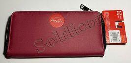 Rare NEW Coke Coca Cola Tokyo Special edition Women Girl burgundy ID zip wallet image 5