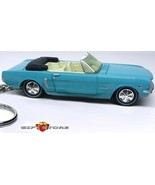 RARE KEY CHAIN RING BLUE 65/1965 FORD MUSTANG CONVERTIBLE NEW CUSTOM LTD... - $39.18