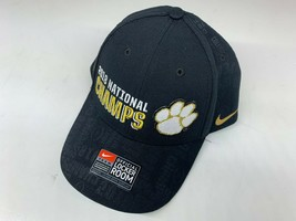 NWT Nike Clemson Tiger Football 2018 National Champion Adjustable Hat GOLD Black - £30.23 GBP