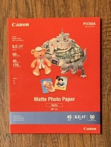 "Canon MP-101 8.5"" X 11"" Matte Photo Paper; 50 Sheets - $14.99"