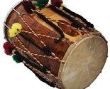 DHOL DRUMS~PUNJABI BHANGRA~SHEESHAM WOOD~PLAYING STICKS~HAND MADE INDIAN - £233.97 GBP