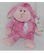 GANZ HE9835 Lambie 11 Inch Pink Tie Dye  With A Snowflake Bow - $13.00