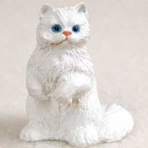 Persian White Cat TINY ONES Figurine Statue Pet Resin - $8.99