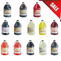 (CASE OF 4) Narvon 1 Gallon Beverage Concentrate Syrup Different Flavors Soda - $67.39+