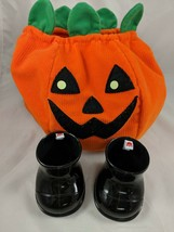 Build a Bear Pumpkin Costume and Black Boots Lot Stuffed Animal - $7.95