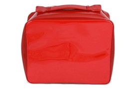 """Estee Lauder Red Cosmetic Fashion Carrying Case Bag Travel 12"""" - $12.86"""