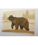 Brown Bear Vinyl Placemats Wilderness Lodge Cabin Camp Rustic Country Se... - $19.49