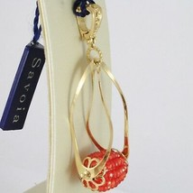 Charm Pendant 925 Silver Yellow Gold Plated Finely Milled, Carnelian image 2