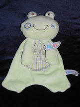 Mary Meyer Baby Green Plaid Frog Security Blanket Lovey Plush Toy New Nwt - $39.59