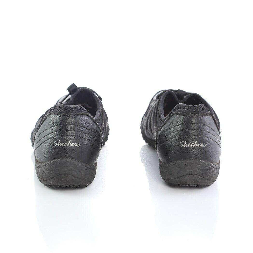 Skechers Work Black Relaxed Fit Fashion Sneakers Slip On Memory Foam Womens 9 image 4
