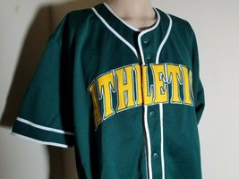 Oakland Athletics A's Jersey MLB Vintage Green Team Baseball Size XL image 6