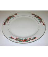 Tienshan Fairfield Poinsettia & Ribbons Fine China Christmas Dinner Plat... - $47.99