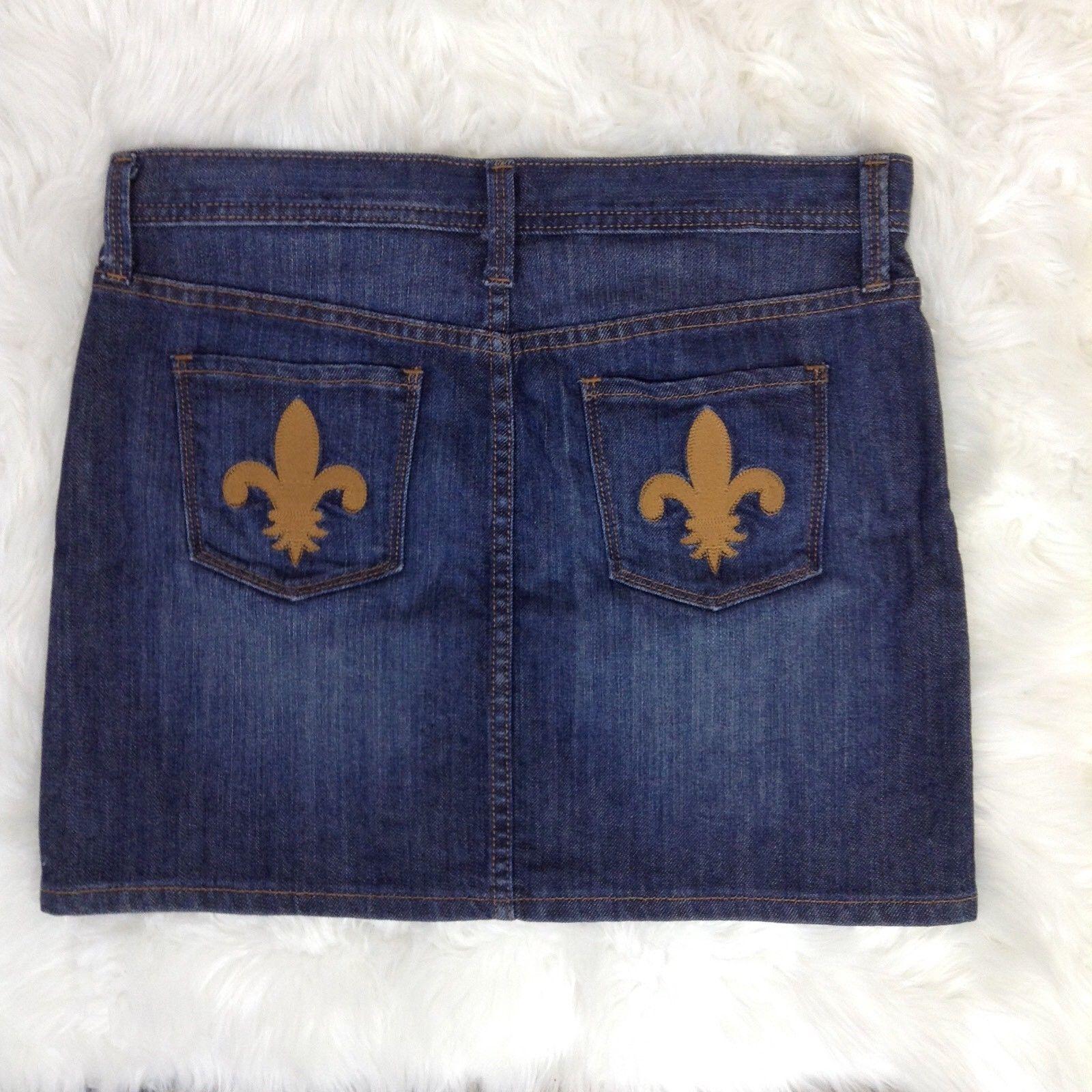 75df4046f6 GAP Size 4 Fleur de Lis Pockets Blue Jean and 50 similar items. S l1600