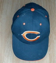 Chicago Bears Nfl Team Apparel Adjustable Hook and Loop Hat One Size Navy - $11.02