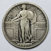 1917D Standing Liberty Silver Quarter Coin Type 1 Lot 519-69