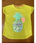 Girls Kids Gap GapKids Yellow Pineapple & Heart T-Shirt Size Large 10 Co... - $6.92