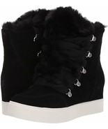 Steve Madden Wharton Faux Fur Trim Lace-Up Wedge Sneakers, Multi Sizes B... - $99.95