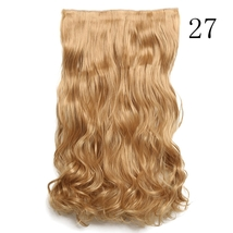 Women hairpiece clip five clip roll extensions thickened (long60cm) D101... - $20.66