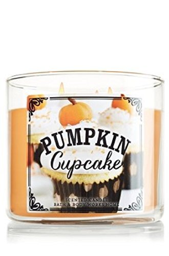 1 X Bath & Body Works Pumpkin Cafe Limited Edition 2014 PUMPKIN CUPCAKE 3 Wick
