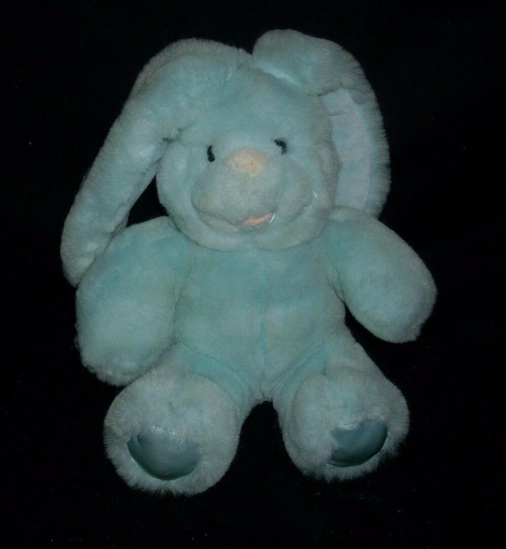 "10"" VINTAGE 1989 COMMONWEALTH BLUE BABY BUNNY RABBIT STUFFED ANIMAL PLUSH TOY"
