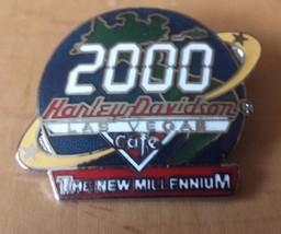 "2000 Harley Davidson Cafe Las Vegas New Millennium Lapel Pin 1 3/4"" x 1 ... - $12.86"
