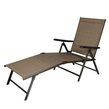 Outdoor Chair Rattan Recliner Adjustable Pool Bench Chaise Patio Folding... - $84.99