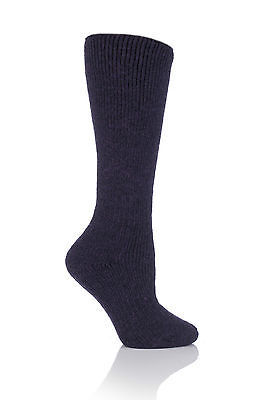 Ladies WOOL 2.7 Tog Long Knee High Thermal Heat Holders Socks 4-8,37-42 Purple