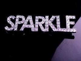 Huge Sparkle Brooch / vintage Rhinestone pin / Drag Queen / silver jewelry - $125.00