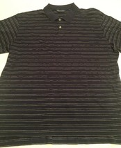 Men's Polo Ralph Lauren Golf SS Shirt Size XL Navy Blue Horizontal Stripes - $9.79