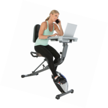 Exerpeutic WorkFit 1000 Fully Adjustable Desk Folding Exercise Bike with... - $263.94
