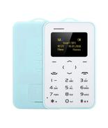 "aeku c6 card mobile phone blue 4.8mm ultra thin pocket slim 0.96"" qwerty... - $24.99"