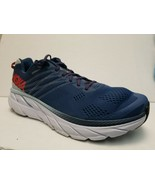 Hoka One One Mens Clifton 6 1102872 EBPA Blue Running Shoes Lace Up Size... - $78.21