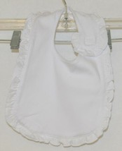 Blanks Boutique Infant Bib And Burp Cloth Set Solid White With Ruffle image 2