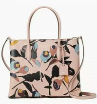 Kate Spade Eva Small Satchel Crossbody Paper Rose Blush Pink Black Bag NWT - $184.09 CAD