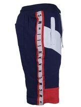 LR Men's Urban Streetwear Cotton Striped Casual Gym Drawstring Sweat Shorts image 6
